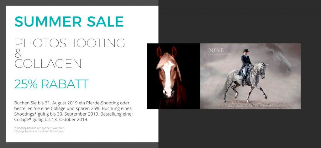 Aktion Summer Sale. Shooting & Collagen